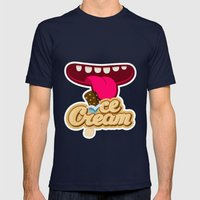We All Scream For Ice Cream Mens Fitted Tee Navy SMALL