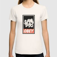 OBEY Bulbasaur Womens Fitted Tee Natural SMALL