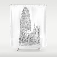 The Gherkin Shower Curtain