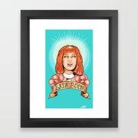 St. Leeloo Of The Big Ba… Framed Art Print