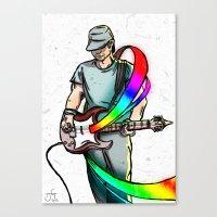 Guitarist (Colour My World) Canvas Print