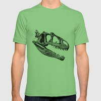 Allosaurus Mens Fitted Tee Grass SMALL