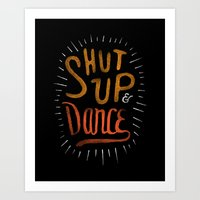 dance Art Prints featuring Dance by skitchism