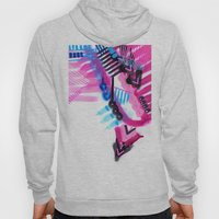 Blue, Pink And Black Hoody