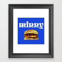 Juicy Lucy Framed Art Print