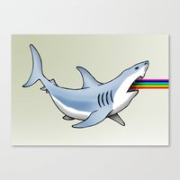 Rainbow Shark Canvas Print