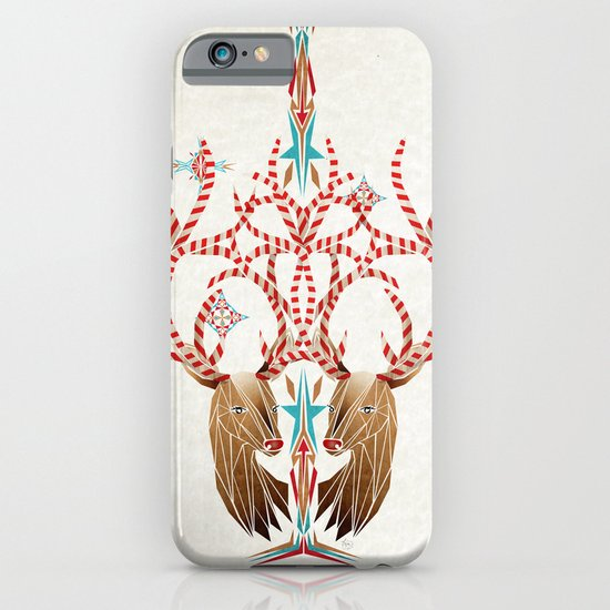 christmas deer iPhone & iPod Case