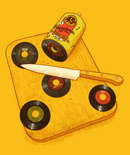 45 rpm Deli Canvas Print