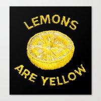 Lemons Are Yellow Canvas Print