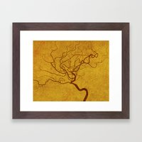 Cerebral in Sand Framed Art Print