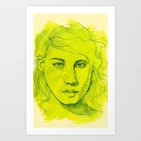 Desmid Art Print