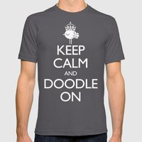 Keep Calm & Doodle On (G… Mens Fitted Tee Asphalt SMALL