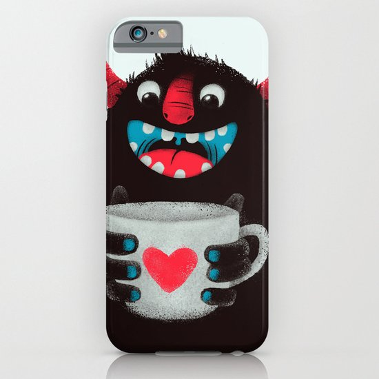 Demon with a cup of coffee (contrast) iPhone & iPod Case