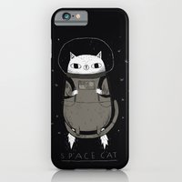 iPhone Cases featuring space cat by Louis Roskosch