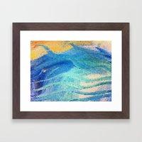 Beach Mosaic Framed Art Print
