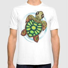 Baby Sea Turtle Mens Fitted Tee White SMALL