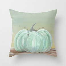 Ready for Fall Cinderella pumpkin Throw Pillow