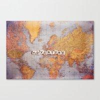 adventure map Canvas Print