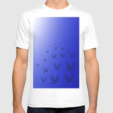 escape MEDIUM White Mens Fitted Tee