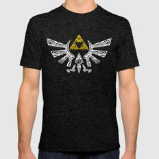 Zelda Hyrule Mens Fitted Tee Tri-Black SMALL