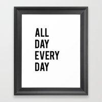 All Day TShirt Framed Art Print