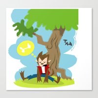 The Wolfman's Dream Canvas Print