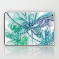Floral Blue Laptop & iPad Skin