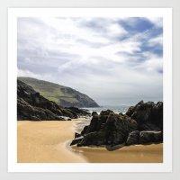 Peaceful Sand And Ocean Art Print