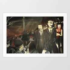 except us - Anonymous Art Print