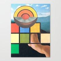 Subheading Flux Canvas Print