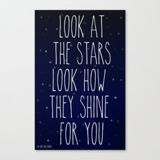Look How They Shine For You 2.0 Canvas Print