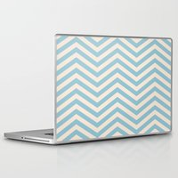 chevron Laptop & iPad Skins featuring Chevron by Patterns and Textures