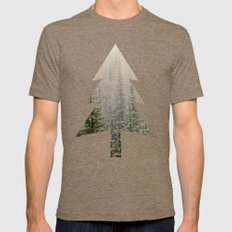 Mountain Haze Mens Fitted Tee Tri-Coffee SMALL