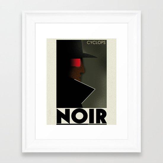CASSANDRE SPIRIT - Cyclops Noir Framed Art Print