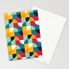 Squares & Curves Stationery Cards
