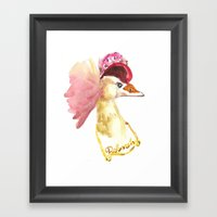 Stylin Crane Framed Art Print