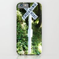 iPhone & iPod Case featuring Korbel Rail Road Crossing by AuFish92024