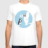 How Little Pandas Are Bo… Mens Fitted Tee White SMALL