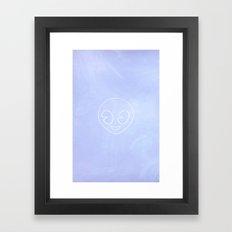 ALIEN EMOJI - WE COME IN PEACE Framed Art Print