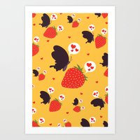 the death loves the strawberry Art Print