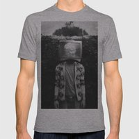 This TV haze sucks me through. I watch the world from the inside Mens Fitted Tee Athletic Grey SMALL