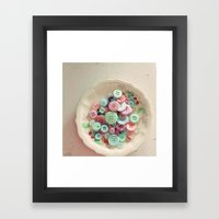 Bowl Of Buttons Framed Art Print