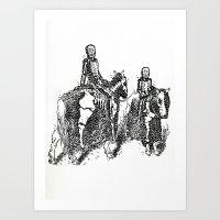 X-Ray Horsemen Art Print