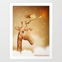 star Art Prints featuring Star by José Luis Guerrero