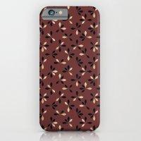 loves me loves me not pattern - oxblood iPhone 6 Slim Case