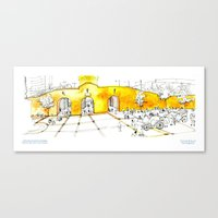 PLAZA DE LOS CARRUAJES Canvas Print