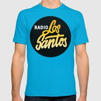 Radio Los Santos Mens Fitted Tee Teal SMALL