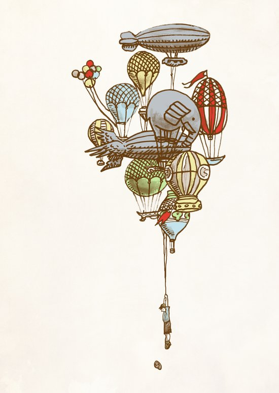 The Great Balloon Adventure Canvas Print