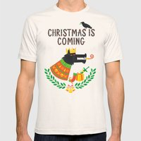 Christmas Is Coming Mens Fitted Tee Natural SMALL