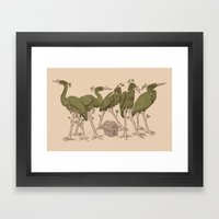 Bird Forest Framed Art Print